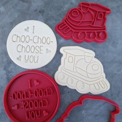 I Choo-Choo-Choose you Classic Valentines Day with Train Cookie Cutter and Embosser Set