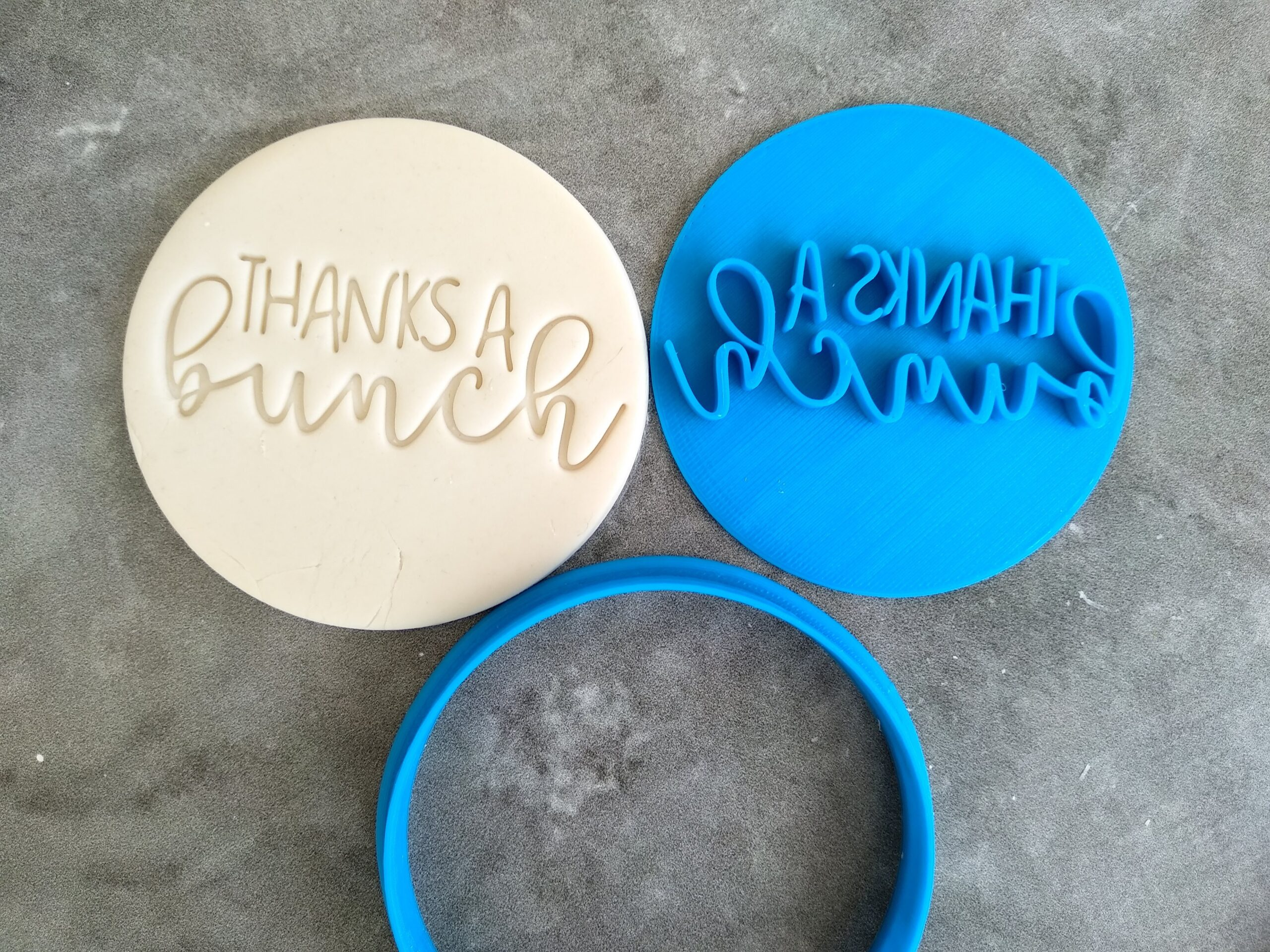 Thanks a Bunch Cookie Fondant Embosser Stamp and Cutter Flowers