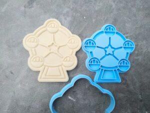 Ferris Wheel Cookie Cutter and Fondant Embosser Imprint Stamp