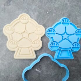 Ferris Wheel Cookie Cutter and Fondant Embosser Imprint Stamp