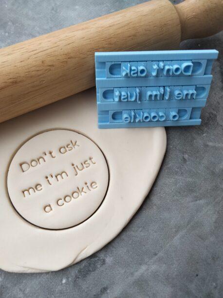 Alphabet Cookie Font Set Modern Font Cookie Stamp Alphabet