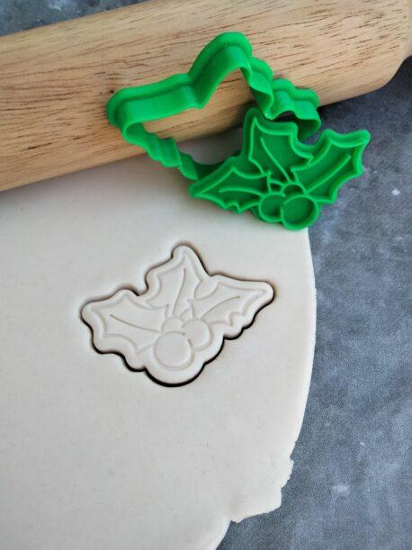 Mini Mistletoe Cookie Cutter and Fondant Embosser Stamp Christmas