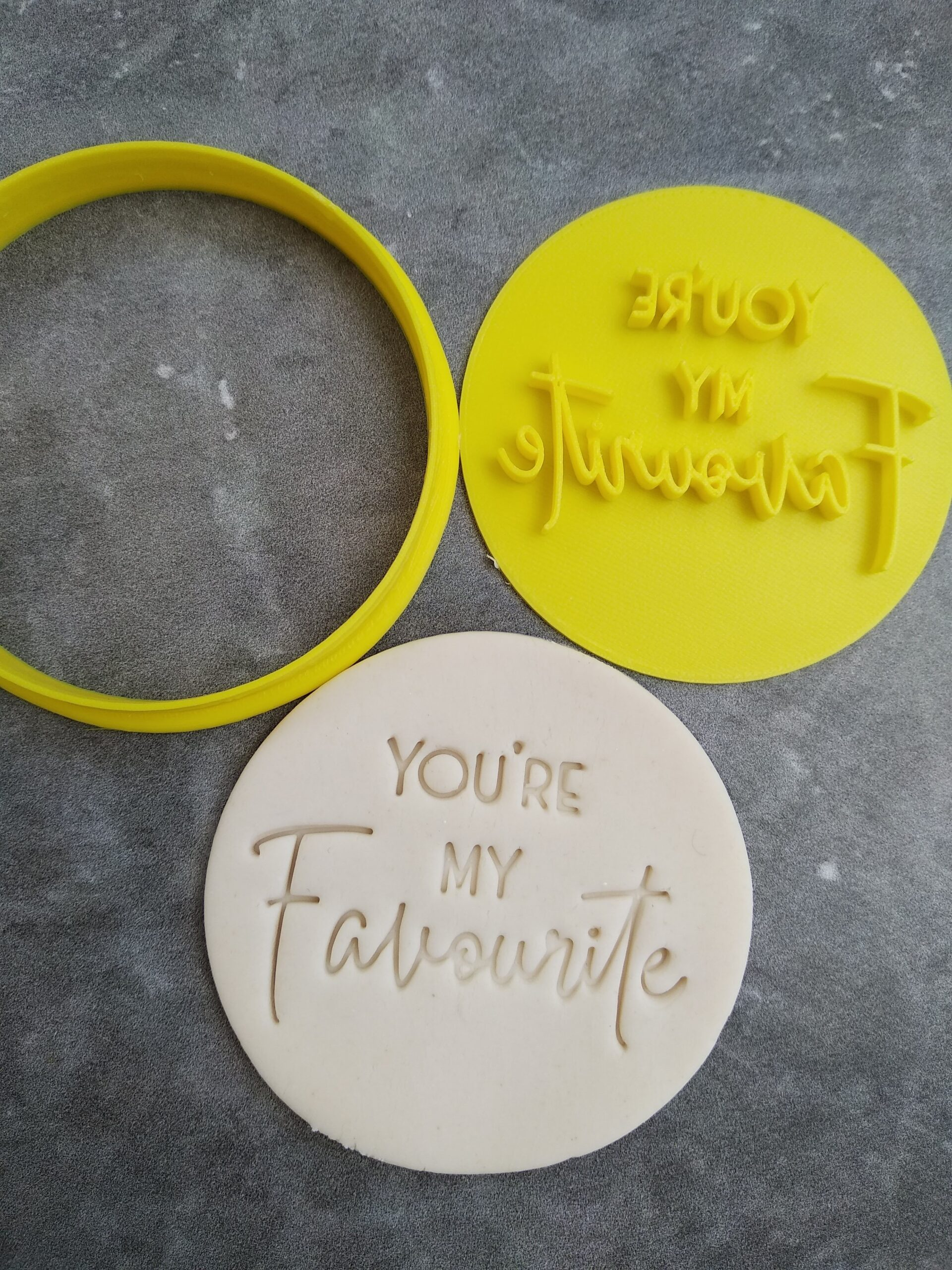 You're my Favourite DIY Cookie Fondant Embosser Imprint Stamp and Cutter