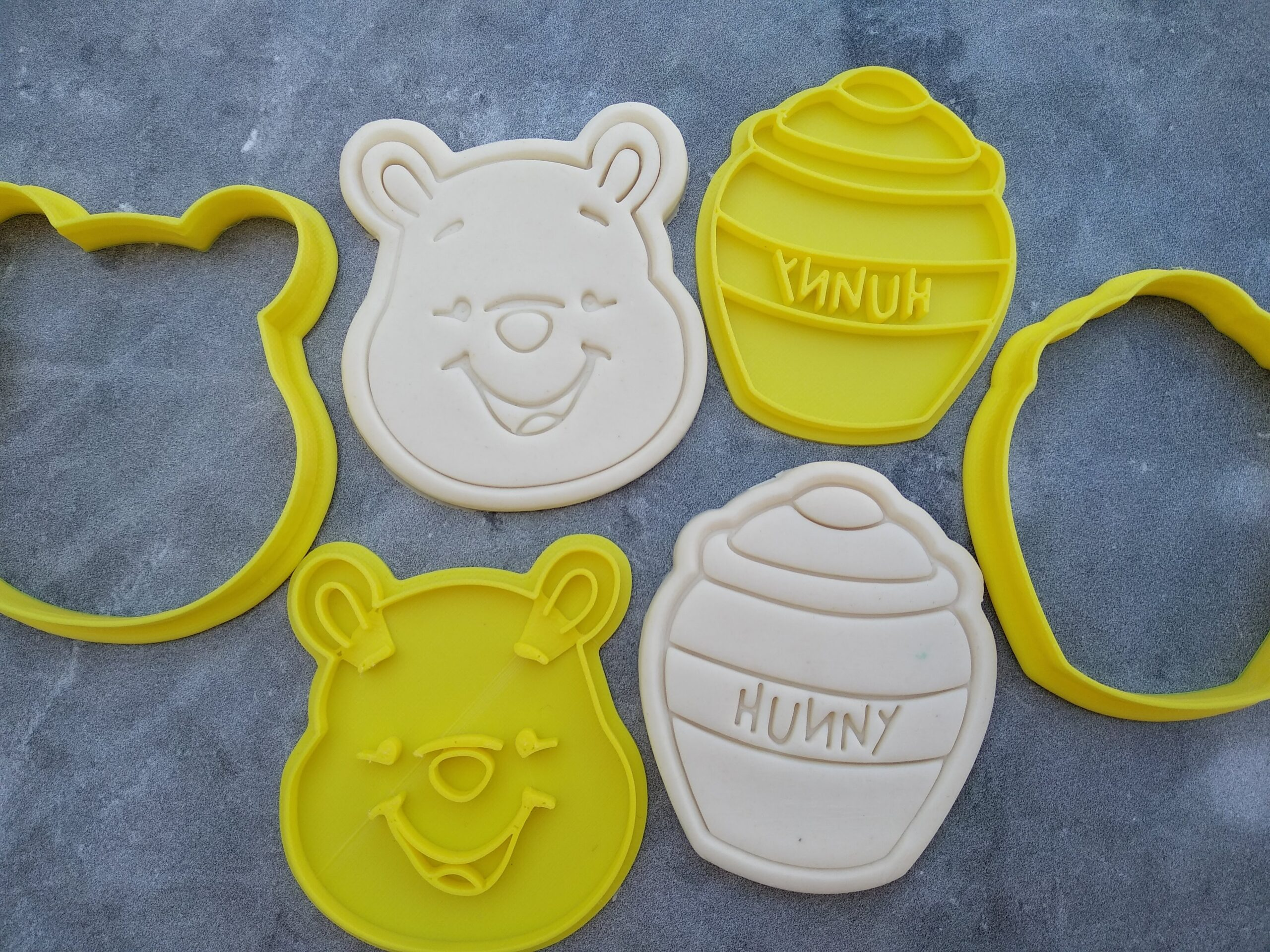 Winnie the Pooh Bear and Hunny Pot Cookie Cutter and Fondant Stamp Embosser Set Honey Pot