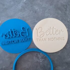 Better than Nothing Cookie Fondant Embosser Imprint Stamp and Cutter - Valentines Day Birthday Christmas Gift