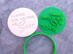 Thanks for helping me soar Fondant Imprint Stamp and Cookie Cutter Teachers Gift Teacher Appreciation