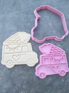 Icecream Van Mr Whippy Soft Serve Icecream Cookie Fondant Embosser Stamp & Cutter