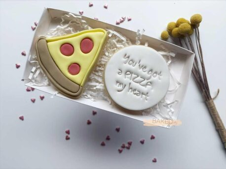 You've got a PIZZA my heart - Cookie Cutter and Fondant Stamp Embosser Set - Valentines Day