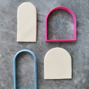 Arch Shape Cutter Set for Cookie Dough and Fondant - Cookie Cutter / Fondant Cutter