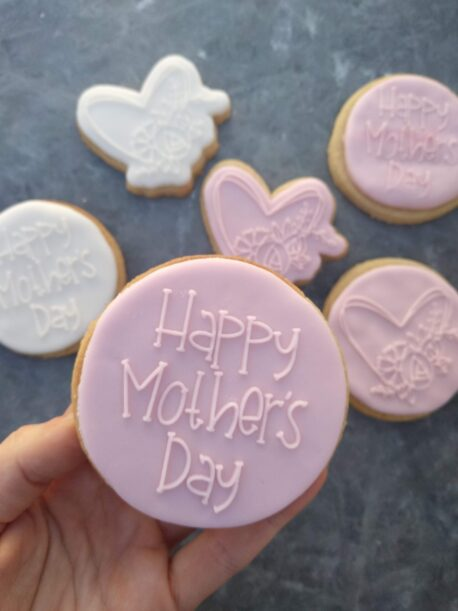 Happy Mothers Day Fondant Stamp with Raised Detail (Style 2)