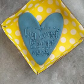 It takes a big heart to shape little minds with Heart Cookie Cutter and Fondant Raised Detail Embosser Stamp Teachers Gift
