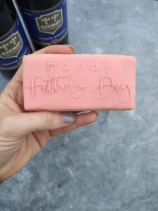 Happy Fathers Day (Style 2) Fondant Stamp with Raised Detail Debosser Pop Stamp Outboss