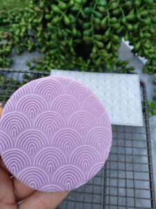 Boho Rainbow Pattern Fondant Cookie Stamp with Raised Detail