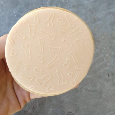 Doodle Pattern Fondant Cookie Stamp with Raised Detail