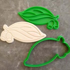 Gum Leaf and Gum Nut Cookie Cutter and Fondant Embosser Imprint Stamp Australian Honkey Nut Eucalyptus Leaf
