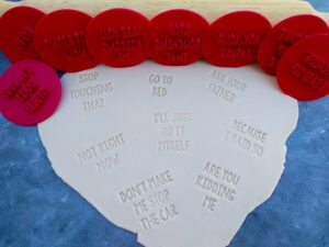 Classic Mum Sayings Cookie text Embosser Stamps Set - Mothers Day Mum Joke