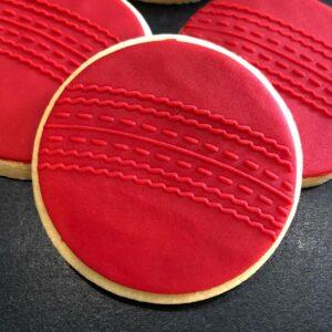 Cricket Ball Fondant Cookie Stamp with Raised Detail debosser pop stamp raised stamp