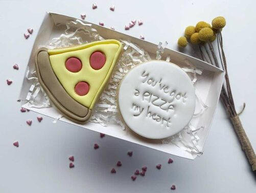 You've got a PIZZA my Heart Cookie Cutter and Fondant Embosser Set Valentines Day