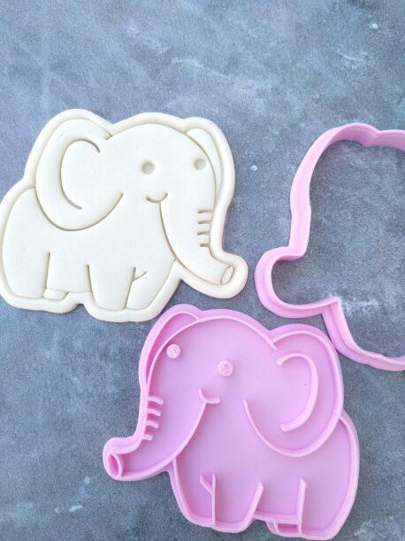 Jungle Safari Elephant Cookie Cutter and Fondant Embosser Imprint Stamp