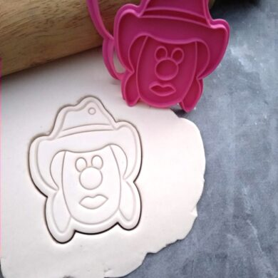 Bubble O' Jill - Bubble O' Bill's Sister! Icecream Cookie Cutter and Fondant Stamp Embosser Cowboy CowGirl