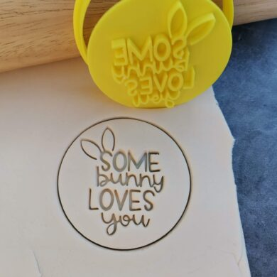 Some bunny loves you Cookie Fondant Embosser Stamp and Cutter - Easter