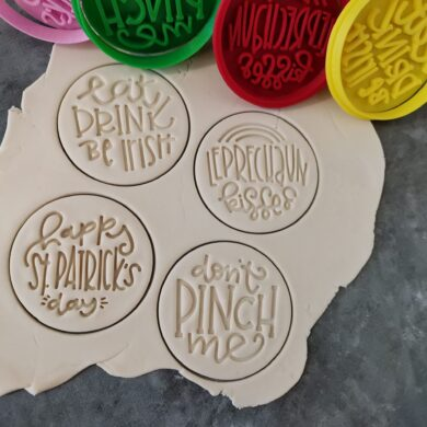 St. Patrick's Day Cookie Fondant Embosser Imprint Stamps and Cookie Cutters