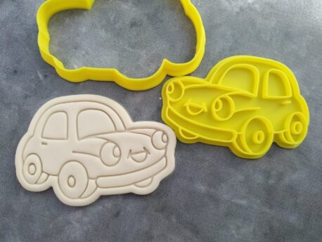 Whimsical Car Cookie Fondant Embosser and Cookie Cutter