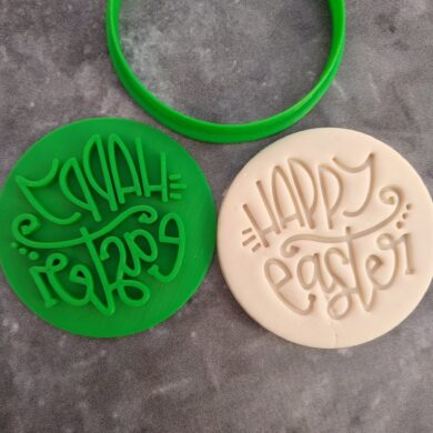 Happy Easter (Style 3) Cookie Fondant Stamp Embosser and Cutter
