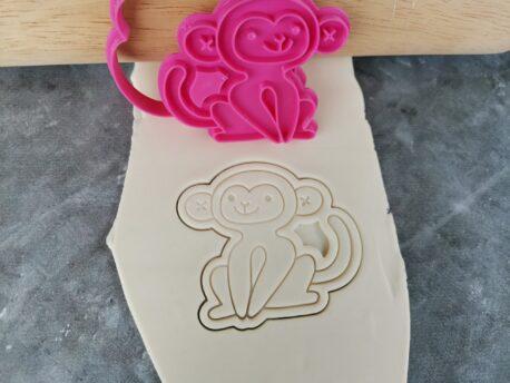 Jungle Safari Monkey Cookie Cutter and Fondant Embosser Imprint Stamp