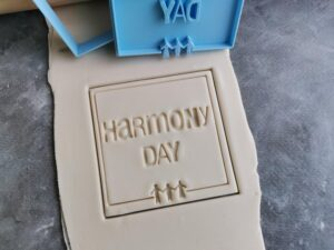Harmony Day Cookie Cutter and Fondant Embosser Imprint Stamp