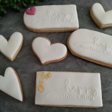 Happy Mothers Day Fondant Stamp with Raised Detail (Optional Cookie Cutter) Cookie Debosser