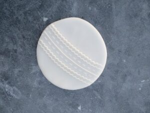 Cricket Ball Fondant Cookie Stamp with Raised Detail