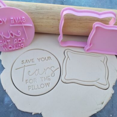 Save your Tears for the Pillow Cookie Cutter and Fondant Stamp Embosser Set
