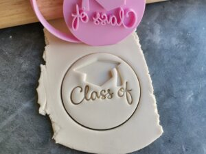 DIY Class of Blank with Graduation Hat Teachers Gift Fondant Embosser Stamps and Cutter