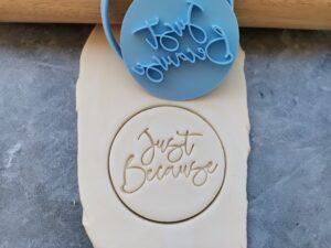 Just Because Cookie Fondant Embosser Imprint Stamp and Cutter