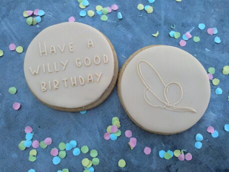 Have a Willy good Birthday with Balloon Set Fondant Cookie Stamp with Raised Detail Debosser Pop Stamp