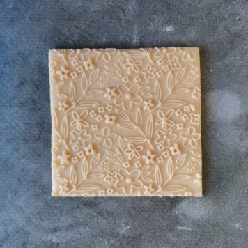 Floral Pattern Fondant Cookie Stamp with Raised Detail