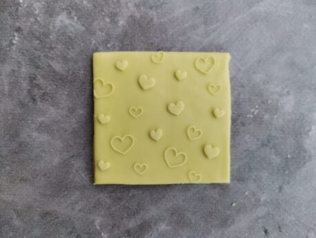 Heart Pattern Fondant Cookie Stamp with Raised Detail