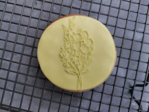 Bunch of Flowers Floral Fondant Cookie Stamp with Raised Detail