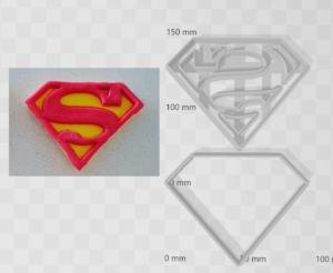 Superman Shape Cutter and Embosser Set