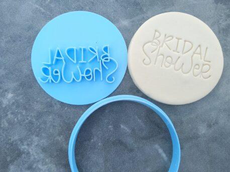 DIY Bridal Shower Cookie Fondant Embosser Stamp and Cutter