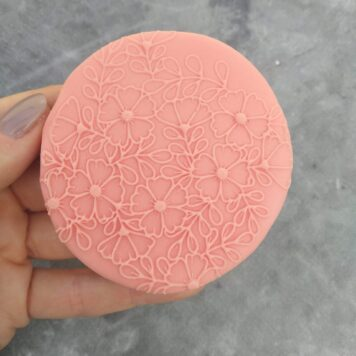 Floral Pattern (Style 2) Fondant Cookie Stamp with Raised Detail
