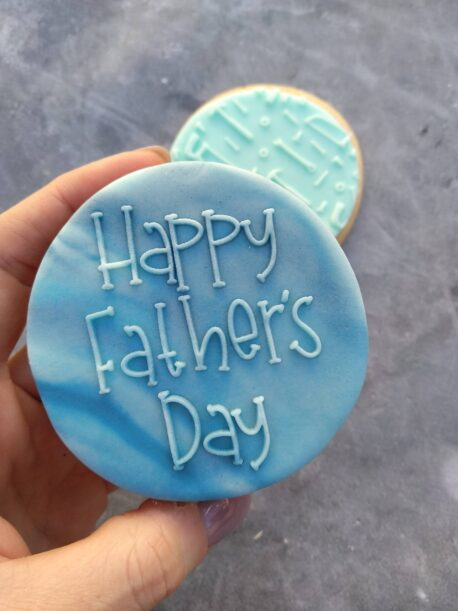 Happy Fathers Day Fondant Cookie Stamp with Raised Detail