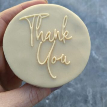 Thank you (Style 2) Fondant Cookie Stamp with Raised Detail