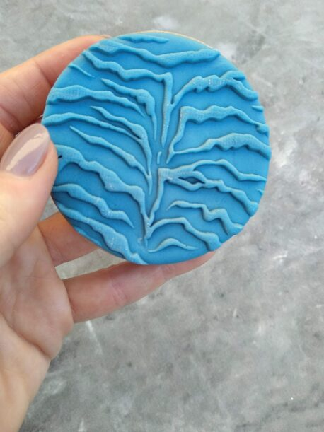 Zebra Print Pattern Fondant Cookie Stamp with Raised Detail POP Stamp Debosser Outboss