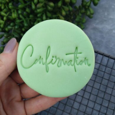 Confirmation Cookie Fondant Embosser Stamp and Cutter