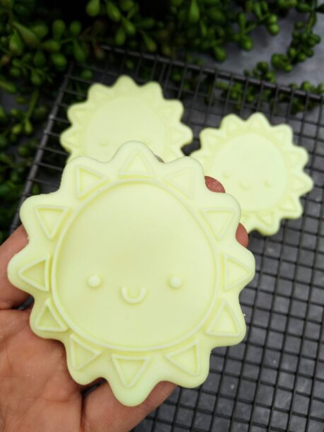 Cute Sun Cookie Cutter and Fondant Raised Detail Embosser Stamp
