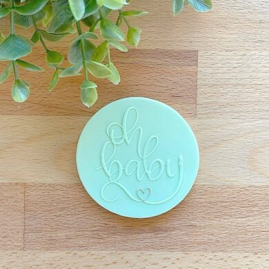 Oh Baby Fondant Cookie Stamp with Raised Detail