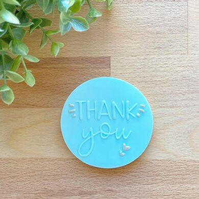 Thankyou Fondant Cookie Stamp with Raised Detail