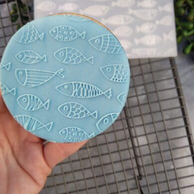Fish Pattern Fondant Cookie Stamp with Raised Detail